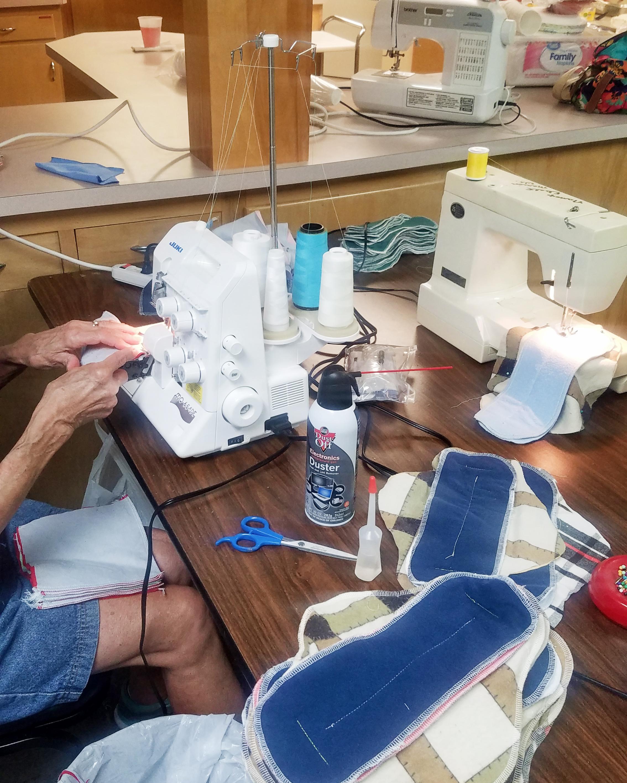 sewing volunteers jakes diapers