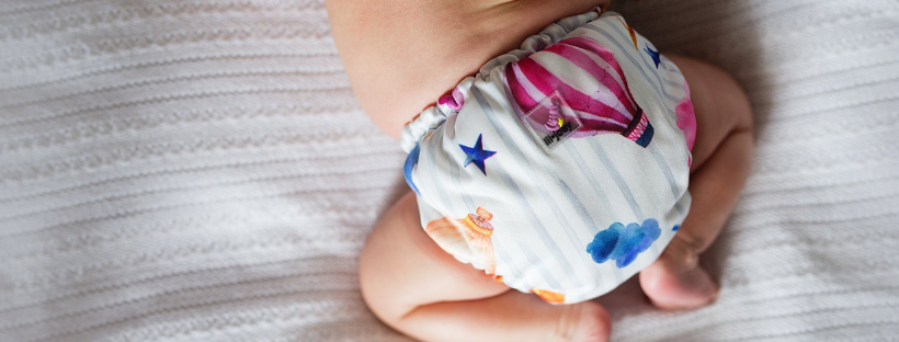 baby bottom with cloth diaper